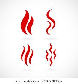 Smoke vector icon set illustration isolated on white background