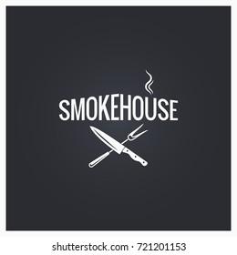 smokehouse logo design background