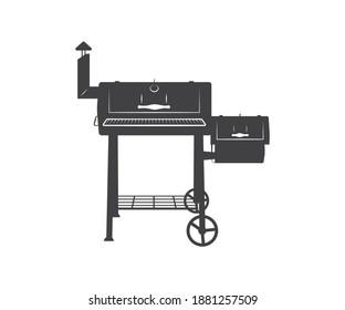 Smoker BBQ, Sign, Symbol, Icon, Logo, Monogram, Smokin Hot, Printable Vector, Smoker BBQ Split And Circle Monogram