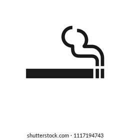 Smoking area sign, use for area that allow smoking. Isolate on white background. Vector.
