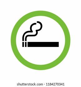 Smoking Area Sign . Vector illustration