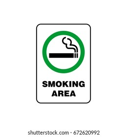 Smoking Area Signage Vector