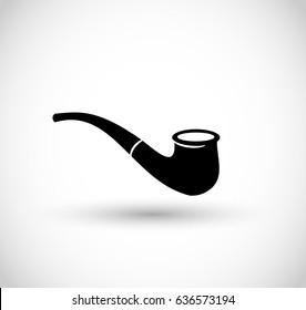 Smoking pipe icon vector
