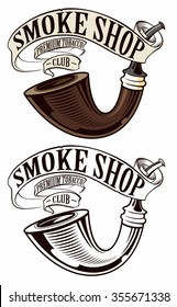 Smoking pipe logo