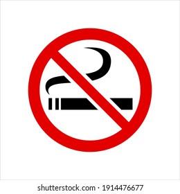 Smoking is Prohibited Forbidden Smoking No Smoking Isolated Vector