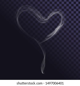 Smoky effect, heart sign made of smoke, love