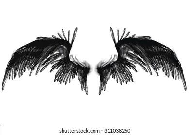 Smoky Vector Black Wings