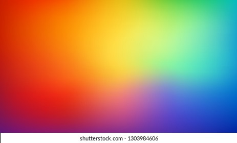 Smooth and blurry colorful gradient mesh background. Modern bright rainbow colors. Easy editable soft colored vector banner template. Premium quality.