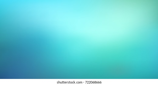 Smooth and blurry colorful gradient mesh background. Vector illustration with bright blue colors. Easy editable soft colored vector banner template. Premium quality.