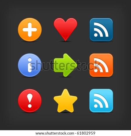 Smooth Color Set Web 20 Internet Stock Vector (Royalty Free