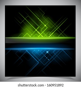 Smooth colorful abstract techno background. Vector illustration