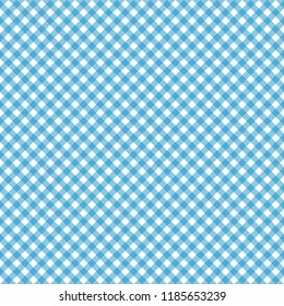 Smooth Diagonal Gingham Seamless Pattern - Smooth diagonal light blue and white classic gingham texture