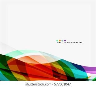 Smooth elegant wave vector background