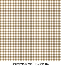 Smooth Gingham Seamless Pattern - Smooth tan and white classic gingham texture