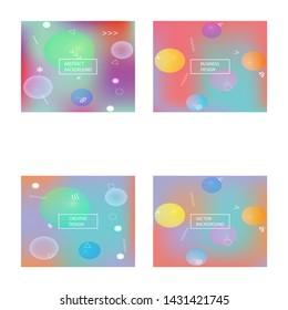 Smooth gradient mesh background. Vector illustration theme. Liquid backdrop with bright rainbow colors. Blue modern abstract backdrop for mobile app and user interface.