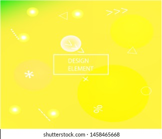 Smooth gradient mesh background. Vector illustration concept. Dynamic backdrop with simple muffled colors. Yellow modern abstract backdrop for mobile app and user interface.
