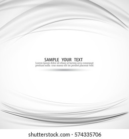 Smooth grey waves and lines abstract smooth background vector.