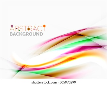 Smooth lines, abstract background template