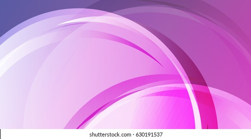 Smooth lines. Vector background set of colorful transparent abstract lines in purple and pink tones