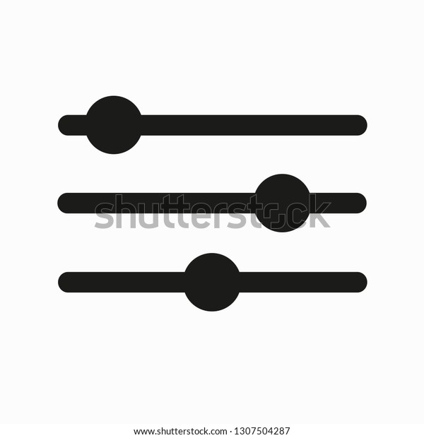 Smooth Mixer Settings Symbol Vector Icon Stock Image