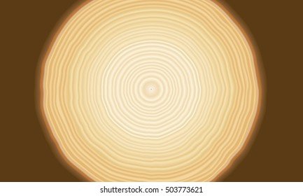 Smooth tan and brown radial tree rings in a pattern showing growth and layers as a background with brown
