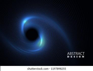 Smooth vector vortex on a dark background. Abstract background
