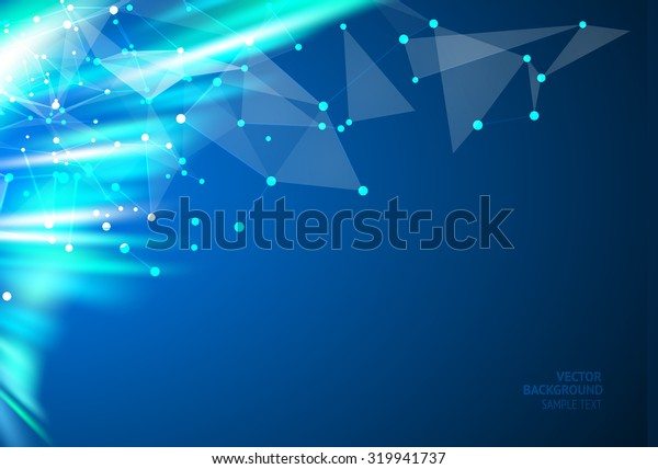 Smooth wave blue design. Vector illustration, eps 10, contains transparencies.