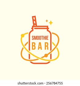 Smoothie bar vector logotype template