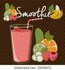 Smoothie design over pointed background, vector illustration