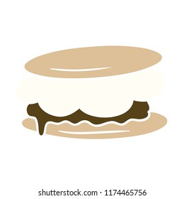 smore flat color style cartoon