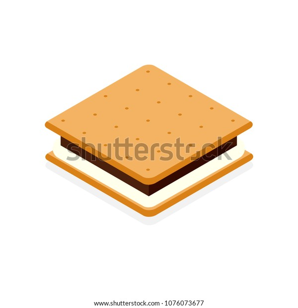 S'more icon. Camping clipart isolated on white background