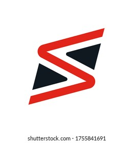 S-moving two colours logo concept