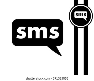 sms - black and white vector icon