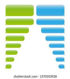 SMS chat bubbles set