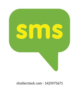 sms icon. flat illustration of sms vector icon for web