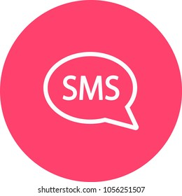 SMS icon. Vector simple illustration of SMS icon isolated on white background