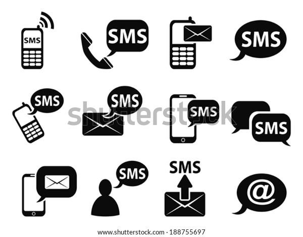 sms icons set