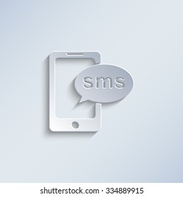 sms - paper vector icon