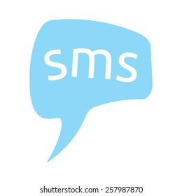 SMS in speech bubble