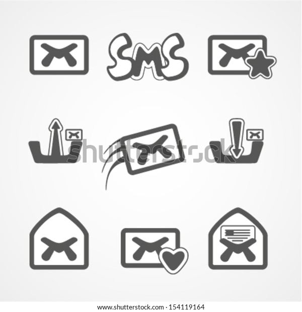 SMS. Vector collection for design.