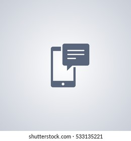 Sms vector icon, chat vector icon