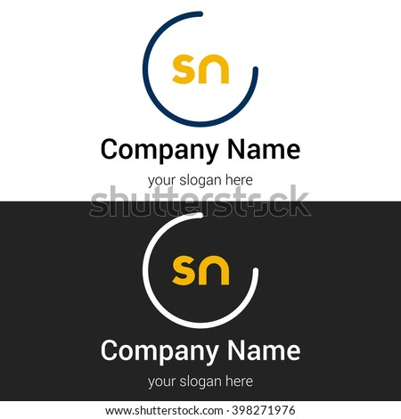 Sn business logo icon design template stock vector royalty free sn business logo icon design template elements vector color sign friedricerecipe Gallery