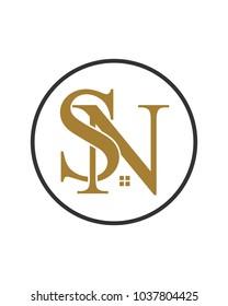 SN initial home logo template