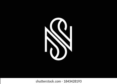SN letter logo design on luxury background. NS monogram initials letter logo concept. SN icon design. NS elegant and Professional letter icon design on black background. N S NS SN