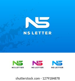 SN and NS Beautiful Letter Logo Illustration