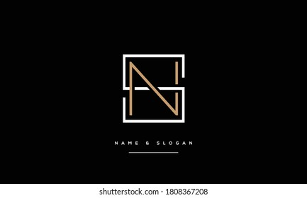 SN ,NS ,S ,N  Abstract Letters Logo Monogram