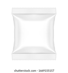 Snack Pouch Food Bag Template Mock Up. EPS10 Vector