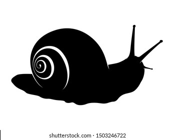 Snail Animal Black Silhouette Vector