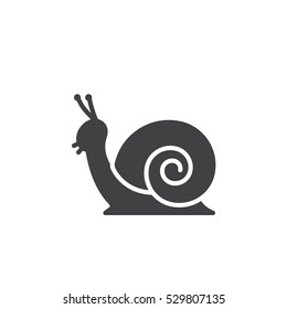 Snail icon vector, filled flat sign, solid pictogram isolated on white. Symbol, logo illustration