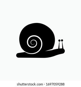 Snail Icon. Wildlife Symbol. Mollusk Sign- Vector